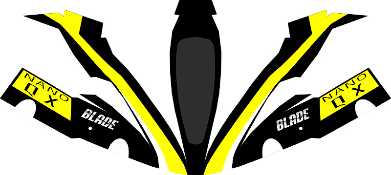Blacks and Yellow Nano QX Paper craft canopy