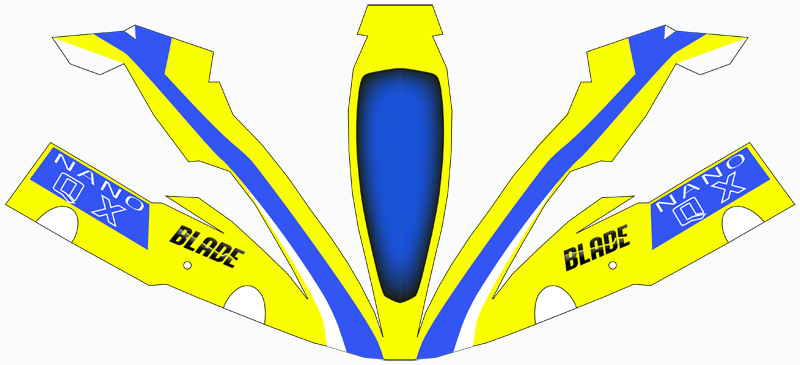 Yellow and Blue Nano QX Paper Craft Canopy