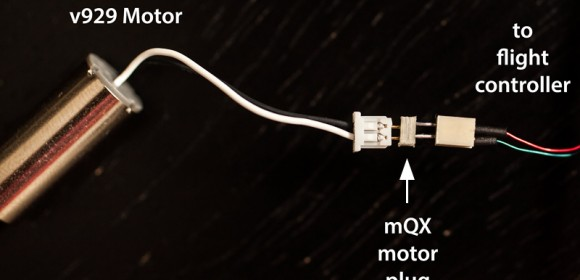 How to use v929 Motor with Blade mQX
